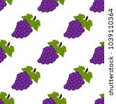 seamless background  grapes on... | Shutterstock . vector #1039110364
