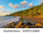 landscape of the pacific... | Shutterstock . vector #1039112860