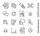 set of teamwork thin line icons.... | Shutterstock .eps vector #1039115764