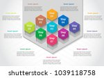 infographics template business... | Shutterstock .eps vector #1039118758
