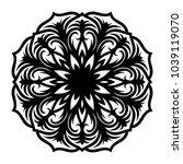 mandala. arabesque. round... | Shutterstock .eps vector #1039119070