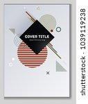 laconic memphis design placard... | Shutterstock .eps vector #1039119238