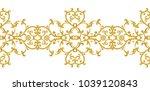 seamless pattern. golden... | Shutterstock . vector #1039120843