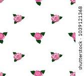 seamless wallpaper pink roses...   Shutterstock . vector #1039121368