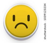 disappointed smiley vector icon.... | Shutterstock .eps vector #1039123234