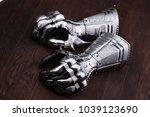 medieval armor  detail of an...   Shutterstock . vector #1039123690