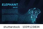 the elephant of the particle.... | Shutterstock .eps vector #1039123834