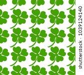 seamless background  irish... | Shutterstock . vector #1039124140