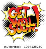 an image of a get well soon... | Shutterstock .eps vector #1039125250