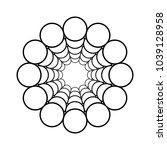 tunnel of circles. vector. | Shutterstock .eps vector #1039128958