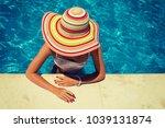 beautiful young woman relaxing... | Shutterstock . vector #1039131874