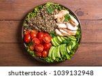 salad from quinoa with avocado  ... | Shutterstock . vector #1039132948
