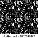 abstract trendy pattern with... | Shutterstock .eps vector #1039134079