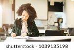 beautiful latin female student...   Shutterstock . vector #1039135198