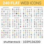 vector set of 240 64x64 pixel... | Shutterstock .eps vector #1039136200