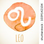 leo hand drawn zodiac sign... | Shutterstock .eps vector #1039142104