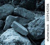 martian landscape of the lost... | Shutterstock . vector #1039142536