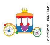 chariot cartoon. outlined... | Shutterstock .eps vector #1039143358