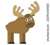 elk cartoon. outlined...   Shutterstock .eps vector #1039143400