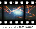 illustration of a film strip as ... | Shutterstock . vector #1039144483