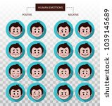 set of flat icons with people... | Shutterstock .eps vector #1039145689