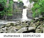 high force waterfall   county... | Shutterstock . vector #1039147120