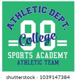 athletic dept. college... | Shutterstock .eps vector #1039147384