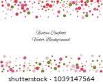 festive color round confetti... | Shutterstock .eps vector #1039147564