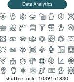 data analytics icon set | Shutterstock .eps vector #1039151830