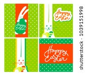 happy easter design collection. ...   Shutterstock .eps vector #1039151998