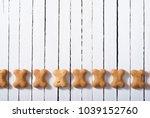 bone shape dog biscuits on...   Shutterstock . vector #1039152760