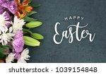 spring season still life with... | Shutterstock . vector #1039154848