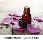 Essential Oil With Rose Petals...