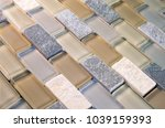 Stock photo mesh mounted mosaic glass and stone tiles for kitchen and bathroom walls and backsplashes 1039159393