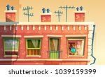 vector illustration of facade... | Shutterstock .eps vector #1039159399