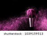 brush for makeup with purple... | Shutterstock . vector #1039159513