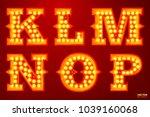 vector realistic glowing... | Shutterstock .eps vector #1039160068