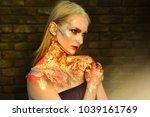 beauty  fashion  look. girl... | Shutterstock . vector #1039161769