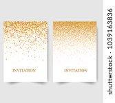 template design of invitation... | Shutterstock .eps vector #1039163836