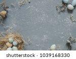 easter background. easter eggs... | Shutterstock . vector #1039168330