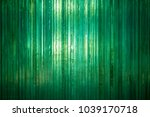 Wall Of Thick Green Glass In...