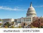 united states capitol building  ... | Shutterstock . vector #1039171084