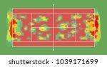 tennis carpet surface court... | Shutterstock .eps vector #1039171699