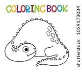 cute dino coloring book.  | Shutterstock .eps vector #1039173034