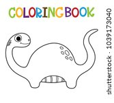 cute dino coloring book.  | Shutterstock .eps vector #1039173040