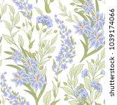 vector floral seamless pattern... | Shutterstock .eps vector #1039174066