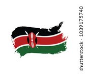 kenya flag  vector illustration   Shutterstock .eps vector #1039175740
