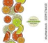 vector hand drawn lemon. sketch ...   Shutterstock .eps vector #1039176610
