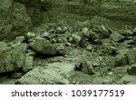 martian landscape of a lost wadi | Shutterstock . vector #1039177519