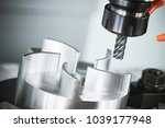 Small photo of milling CNC machine tool with mill